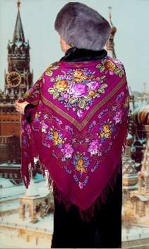Model in Large Shawl