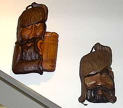 Carved Faces Wall Hangings